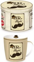 Mr. Right Porzellanbecher in GB, 350 ml