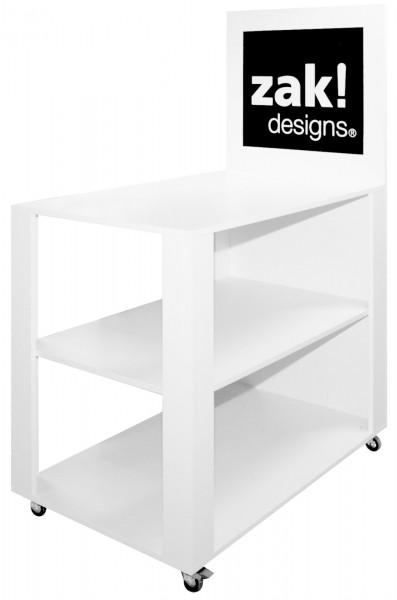 Tisch mit Rollen, Holzoptik, 1.16x.75x1.0 m