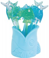 Picks Fisch grün/blau 8tlg.
