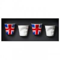 Espresso Knitterbecher 8 cl, 4er Set Geschenkverpackung