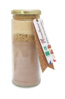 BIO Schoko / Hasselnuss Muffins Backmischung im Glas, 340 g