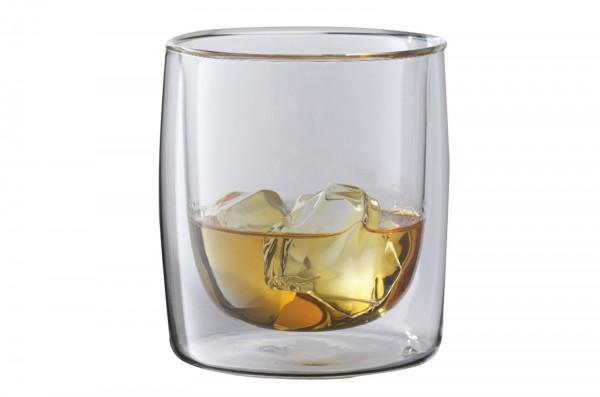 """Sorrento """"Bar"""" Whisky Gläser doppelwandig, 2er Set, 266 ml"""