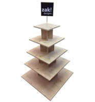 Pyramid Display Holz, leer, 90x90x160 cm