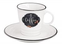 Kitchen Basics Kaffeetasse m. Untertasse in GB, 300 ml