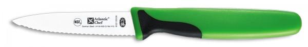 Atlantic Chef Pariermesser mit Wellenschliff 8cm grün