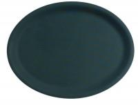 Antirutschtablett schwarz oval 20x26.5cm