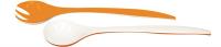 Duo Salatbesteck orange/weiss 29 cm