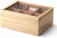 Gummibaum Teebox, 23x17.5x10 cm