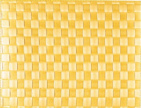 PP-Tischset gewebt, eckig, zitronengelb, 30x40 cm