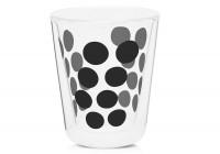 Dot Dot Kaffeeglas schwarz, doppelwandig 20 cl