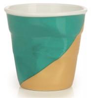 Espresso Knitterbecher 8 cl, White Twist - grün oben