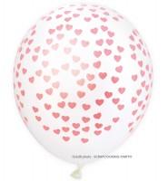 Luftballons Herzen, 6 Stk. Ø25cm
