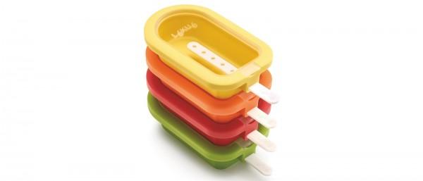 Eis am Stiel, Lolly, 4 Stk. gelb, grün, rot, orange