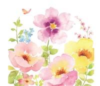 Watercolors Servietten 20 Stk. 33x33 cm
