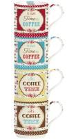 Time for Coffee 4er Set Porzellanb. stapelbar 275 ml in GB