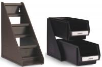 Besteckboxhalter mit 3 Boxen braun