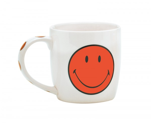 Smiley Porz. Mug in GK, weiss/coral, 35 cl