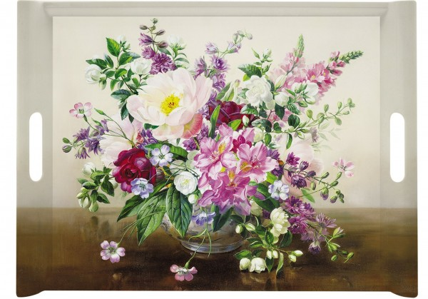 Bouquet Naturel Tablett m. Griffen 52x37 cm