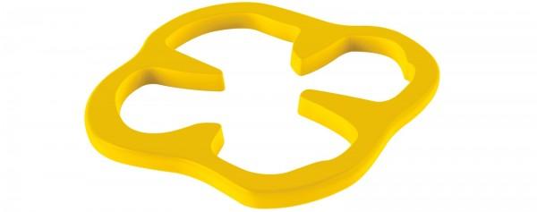 Peperoni Untersetzer gelb 15 cm