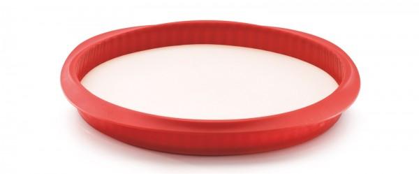 Backform Quiche m. Platte,rot/weiss Ø28 cm