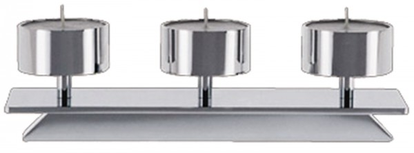Kerzenhalter Trave 5, B: 48cm D: 6cm verchromt glanz