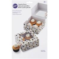 Cupcake Box für 4 Stück, Sterne