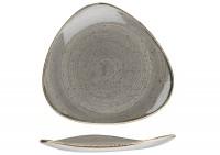 Stonecast Grau Triangel Teller flach 19.2cm
