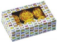 Cupcake Box für 6 Stück, Cupcake Heaven, 2 Stk., 24.5x17x7.5
