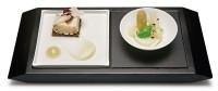 Apéro-Platte mit 1 Schälchen, 1 Porzellanplättchen 10x20cm