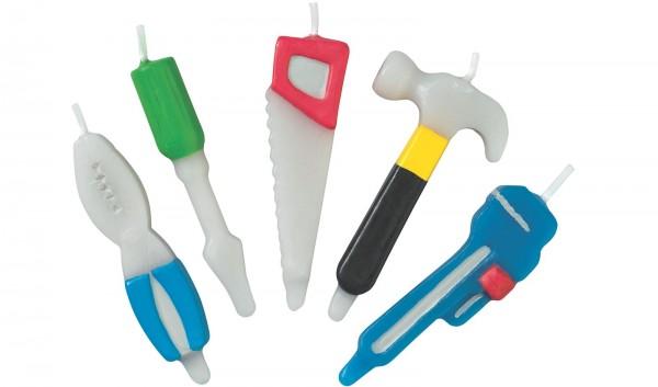 Kerzen Werkzeuge, ca. 6 cm, 4 Stk.