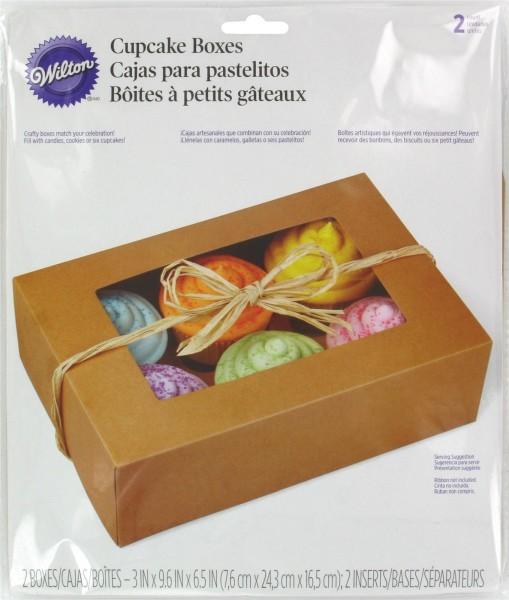 Cupcake Box für 6 Stück, Natur