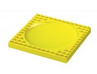 Lego Speiseteller, gelb, 21x21 cm