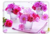 Pink Flowers Tablett 30x21.5 cm