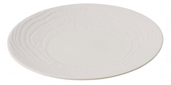 Speiseteller rund, H: 2.6 cm, Ø 26.5 cm, Elfenbein