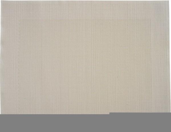 """Tischset """"Rahmen"""", eckig, cremeweiss, 32x42 cm"""