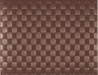 PP-Tischset gewebt, eckig, braun, 30x40 cm