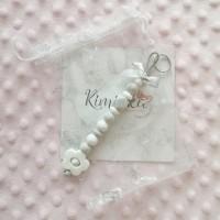 Schlüssel-/ Taschenanhänger *FLOWER WHITE*