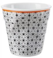 """Espresso Knitterbecher 8 cl, weiss """"Blumen"""""""