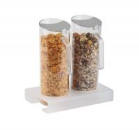 Cerealien-Bar 3-tlg, ca. 26 x 15.5 cm, H 4 cm