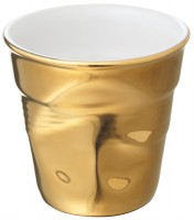 Espresso Knitterbecher 8 cl, weiss/gold
