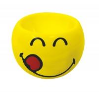 Smiley Eierbecher Emoticon yummy, Ø 6cm