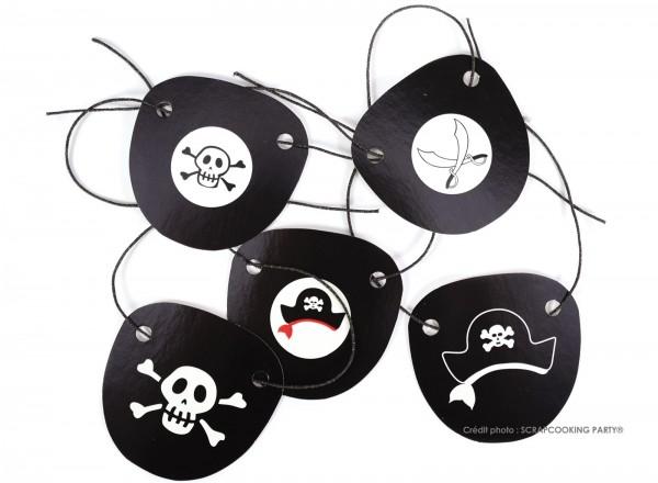 Augenklappe Pirat, Karton 5 Stk.