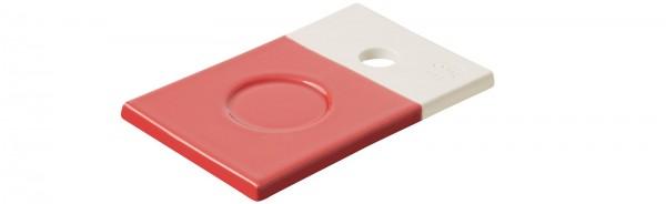Color Lab Tablett rechteckig, 14x9x0.8 cm, rot