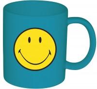 Smiley Klassik Tasse aqua blau 35 cl