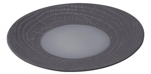 Speiseteller rund, H: 2.6 cm, Ø 26.5 cm, Lakritze