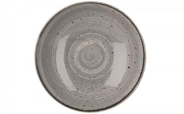 Stonecast Grau Teller coupe tief 24.8cm
