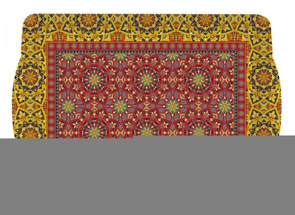 "Art Around the World ""Mandala"" Tablett m. Griffen 33x22 cm"