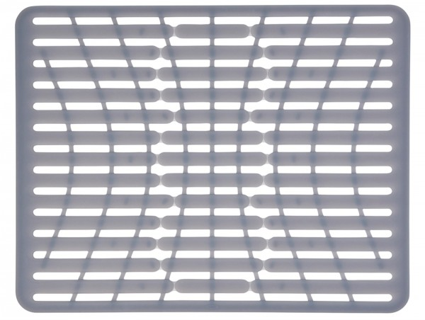 Silikon Spülbeckenmatte, grau, gross, 43x32 cm