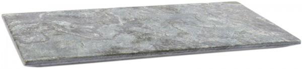 Playground Schieferplatte eckig silbergrau 30x15cm h:1,6cm