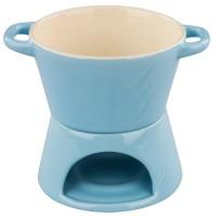 Blau Schokofondue Set 6-tlg., Ø 15 cm, H: 12.5 cm